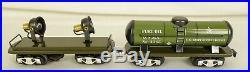 Marx #10471 Us Army (9) Piece Electric Military Supply Train Set-un-run Mib