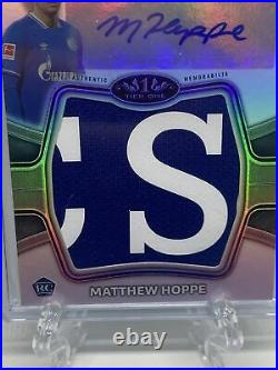 Matthew Hoppe 2020-21 Topps Tier One Rookie Card Patch Auto RC RPA SP /10