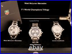 Mint Tag Heuer 1998 F1 World Champions Trilogy Limited Edition Of 50 Pieces