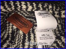 Missoni Winter Warm Black & White Knit Stylish Turban! Cozy Warmness Piece