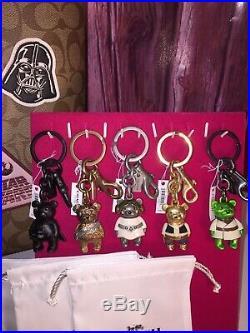 NWT Star Wars COACH 7 Piece Set Town Tote & Wristlet & 5 Key Fob Set Lt Ed $1116