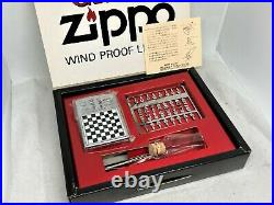 New ZIPPO 1994 Limited Edition GAME Chess Magnetic Board Lighter w Pieces Set