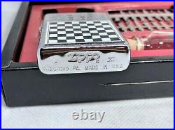 New ZIPPO 1995 Limited Edition GAME Chess Magnetic Board Lighter w Pieces Set