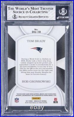 ONE OF ONE Tom Brady & Rob Gronkowski Panini Immaculate With2 GU Patches (BGS 8)