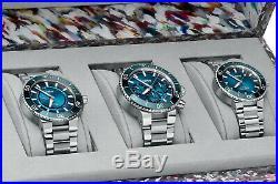Oris Ocean Trilogy Blue Whale, Great Barrier 3 & Clean Ltd Edt 200 Pieces New