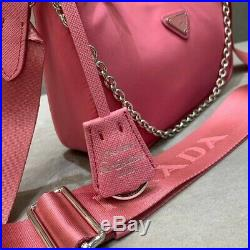 PRADA Nylon Re-Edition 2005 Shoulder Bag Begonia Pink / Rare Piece