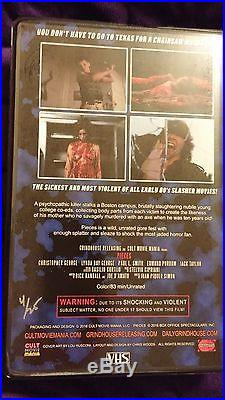 Pieces VHS 4 of 25 Limited Cult Grindhouse Purple Cover with Bonus Puzzle