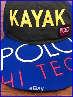 Polo Ralph Lauren Hi Tech Kayak Long Bill Limited Edition Flag 6 Panel Patch Hat