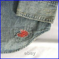 Polo Ralph Lauren Mens Western Patchwork Denim Button Down Shirt Ltd Edition L