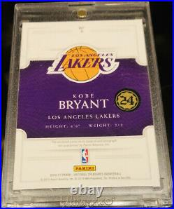 RARE 2016-17 National Treasures Game Gear KOBE BRYANT Auto Jersey card 6/25! WOW