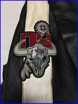 Rare VTG 90S Avirex Senatobia Choctaws Bull Skull Leather Bomber Jacket Mens 6XL