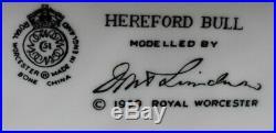 Royal Worcester HEREFORD BULL Doris Lindner ltd edt 1000 pieces circa 1959