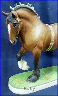 Royal Worcester SHIRE HORSE Ltd 500 pieces DORIS LINDNER circa 1964