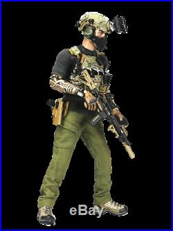 SAS C. R. W Urban Raid Green Wolf Custom One Sixth Figure + Limited Edition Patch