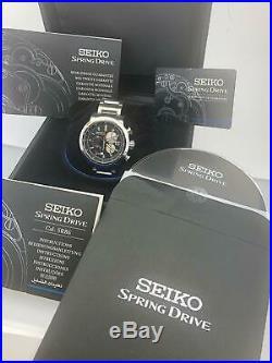 Seiko Ananta Spring Drive Chrono. Box / Cert. Ltd Ed. In 300 piece SPS003