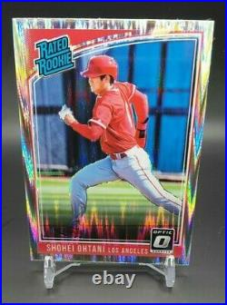 Shohei Ohtani Rc 2018 Optic Shock Silver Refractor Run Rated Rookie #56