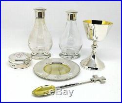 Six Piece Sterling Silver Travelling Communion Set J Wippell & Co Ltd London 80s