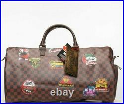 Sprayground Intonational Travel Patch Emperor Monogram Duffle Bag World D3360