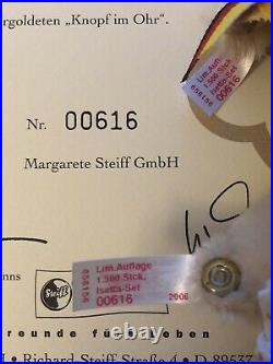 Steiff BMW Isetta Set 2006 Limited Edition 1 / 1500 Pieces Certificate