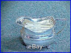 Three Piece Art Deco Sterling Silver Tea Set By S. Blanckensee & Sons Ltd. 1929