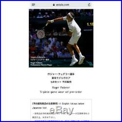 Uniqlo Roger Federer 2018 Wimbledon Tennis 5-piece Limited Edition L size Set