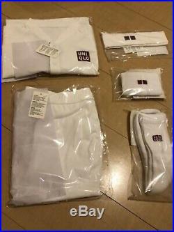 Uniqlo Roger Federer 2018 Wimbledon Tennis 5-piece M size Set Limited Edition