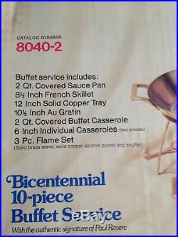 Very Rare-Paul Revere Limited Edition NEW 10 Piece Buffet Service-Bicentennial
