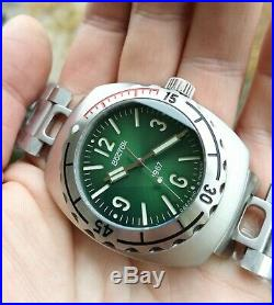 Vostok Amphibia 1967 Green face Diver Watch Rare 200m Limited Edition 500 pieces