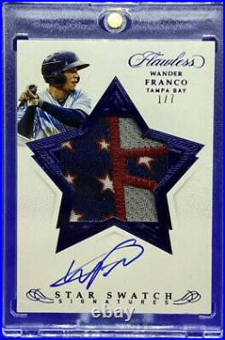 WANDER FRANCO Flawless 4th of July Stars & Stripes Rookie Patch Auto #1/7 RARE