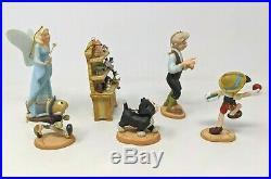 WDCC Disney Pinocchio 6 Piece Ornament Set Limited Edition with Box & COA A003