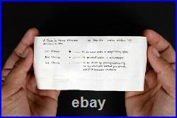 YOKO ONO 1968 S. M. S. #5 MEND PIECE FOR JOHN sms copley lichtenstein duchamp