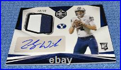 ZACH WILSON 2021 Panini Chronicles Draft Picks Limited RPA RC Patch Auto /99