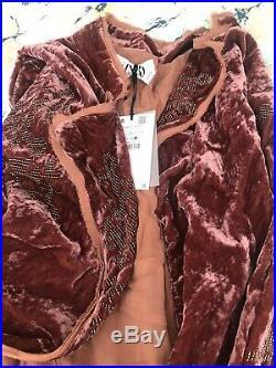 Zara Limited Edition Velvet Kimono Jacket Large BNWT Spell Designs Boho Style