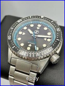 Zelos Great White Teal Dial Swiss Automatic 44mm Limited Edition 75 Pieces 1000m